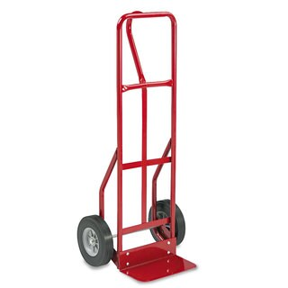 Safco Two-Wheel Steel Hand Truck 500-pound Capacity 18-inch wide x 47-inch high Red