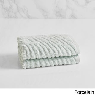 Natori Dynasty Wave Textured Jacquard Washcloth (set of 2)