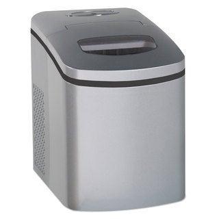 Avanti Portable/Countertop Ice Maker Silver 9 3/4-inch wide x 14-inch deep x 13-inch high