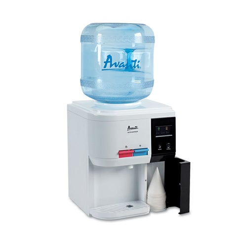 Avanti Tabletop Thermoelectric Water Cooler 13 1/4-inch Diameter x 15 3/4h White