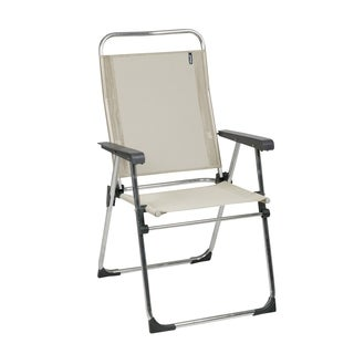 Lafuma Victoria Alu brut Aluminum Frame Folding Chair with Seigle Batyline Fabric (Set of 6)