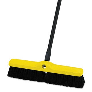 Rubbermaid Commercial Tampico-Bristle Medium Floor Sweep 18-inch Brush 3-inch Bristles Black