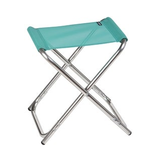 Lafuma ALU PL Alu brut Aluminum Frame Folding Stool with Emeraude Batyline Fabric (Set of 6)