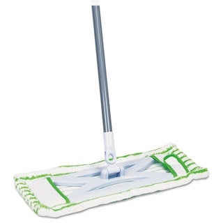 Quickie Microfiber Floor Mop 48 inches Handle 6 1/2 x 2 1/2 Frame Green