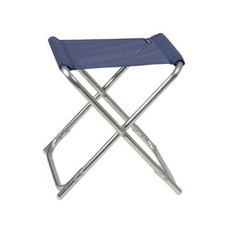 Lafuma ALU PL Alu brut Aluminum Frame Folding Stool with Ocean Batyline Fabric (Set of 6)