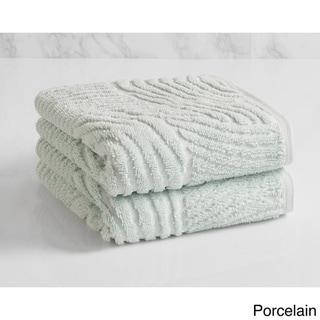 Natori Dynasty Wave Textured Jacquard Hand Towel (set of 2)