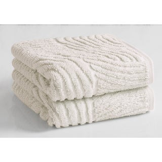 Natori Dynasty Wave Textured Jacquard Hand Towel (set of 2)