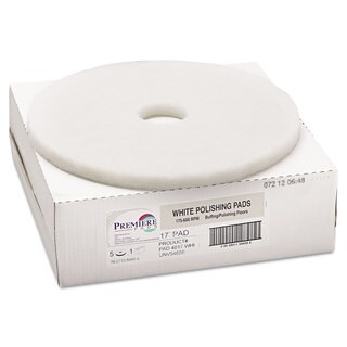 Boardwalk Standard 17-Inch Diameter Polishing Floor Pads White