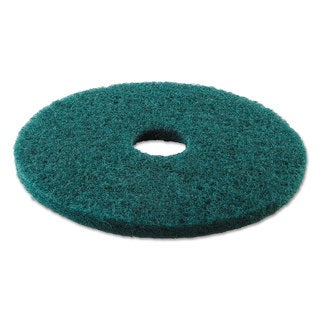 Boardwalk Standard 17-Inch Diameter Heavy-Duty Scrubbing Floor Pads Green