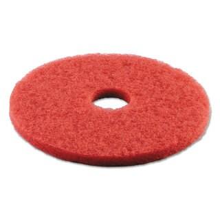 Boardwalk Standard 16-Inch Diameter Buffing Floor Pads Red