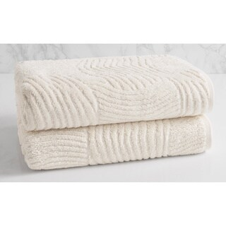 Natori Dynasty Wave Textured Jacquard Bath Towel (set of 2)