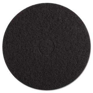Boardwalk Standard Black Floor Pads 17 inches dia Black 5/Carton