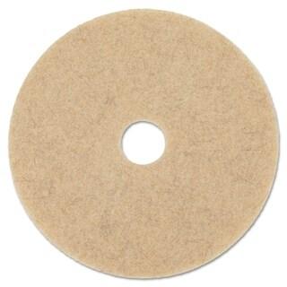 Boardwalk Natural Hog Hair Burnishing Floor Pads, 20 in. Diameter, 5/Carton