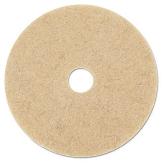 3M Ultra High-Speed Natural Blend Floor Burnishing Pads 3500 27-Inch Natural Tan