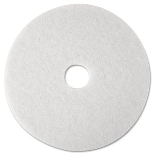 3M Super Polish Floor Pad 4100 12-inch White 5/Carton