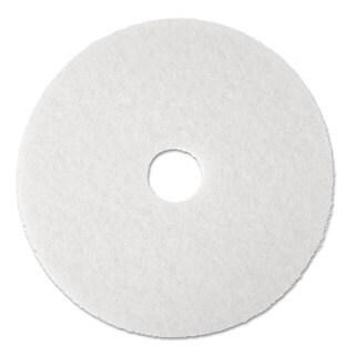 3M Super Polish Floor Pad 4100 17 inches White 5/Carton