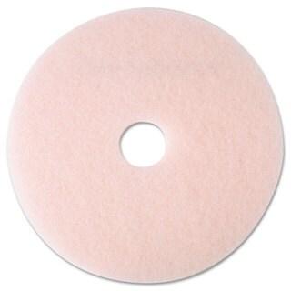 3M Ultra High-Speed Eraser Floor Burnishing Pad 3600 19-inch Pink 5/Carton