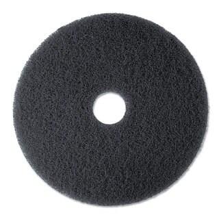 3M High Productivity Floor Pad 7300 20 inches Black 5/Carton