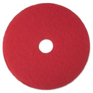 "3M Red Buffer Floor Pads 5100 Low-Speed 17"" 5/Carton"