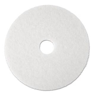 3M Super Polish Floor Pad 4100 13-inch White 5/Carton