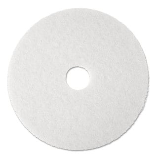 3M Super Polish Floor Pad 4100 19 inches White 5/Carton