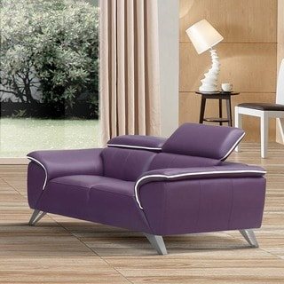 Luca Home Purple Loveseat