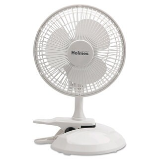 Holmes 6 inches Convertible Clip/Desk Fan 2 Speed White