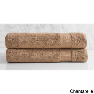 Natori Dynasty Solid Cotton Bath Sheet (Set of 2) (Option: Chantarelle)