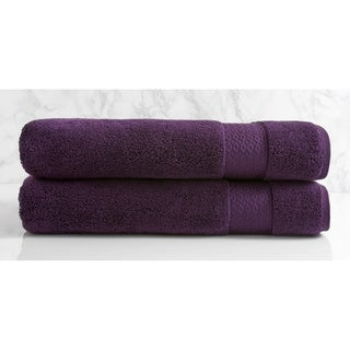 Natori Dynasty Solid Cotton Bath Sheet (Set of 2)