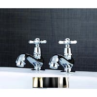 Classic Basin Taps Cross Handles Bathroom Faucet