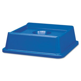 Rubbermaid Commercial Untouchable Bottle and Can Recycling Top Square 20 1/8 x 20 1/8 x 6 1/4 Blue