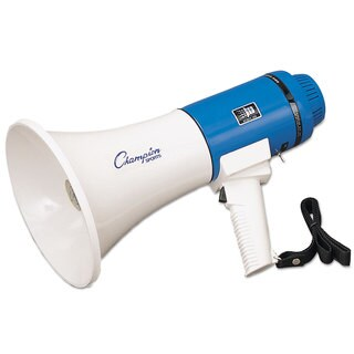Champion Sports Megaphone 12-25W 1000 Yard Range White/Blue