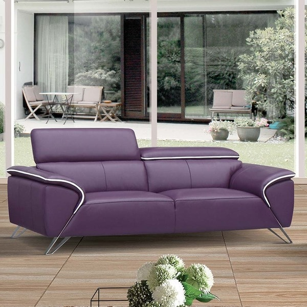 Shop Luca Home Purple Sofa Free Shipping Today