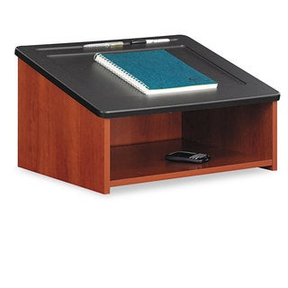 Safco Tabletop Lectern 24-inch wide x 20-inch deep x 13-3/4h Cherry/Black