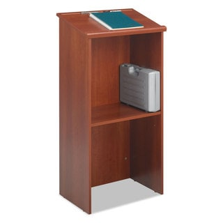 Safco Stand-Up Lectern 23-inch wide x 15-3/4-inch deep x 46-inch high Cherry