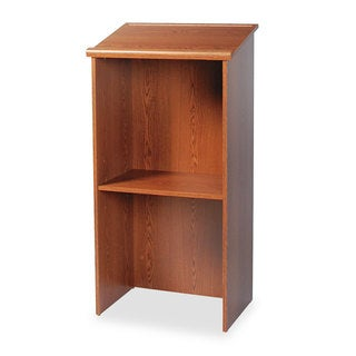 Safco Stand-Up Lectern 23-inch wide x 15-3/4-inch deep x 46-inch high Medium Oak
