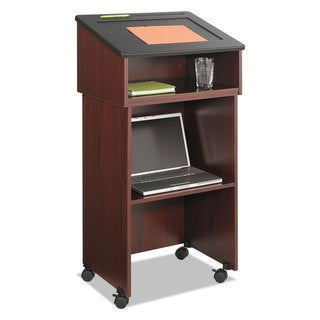 Safco Tabletop Lectern 24-inch wide x 20-inch deep x 13-3/4h Mahogany/Black