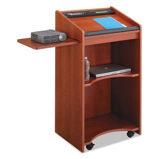 Safco Executive Mobile Lectern 25-1/4-inch wide x 19-3/4-inch deep x 46-inch high Cherry