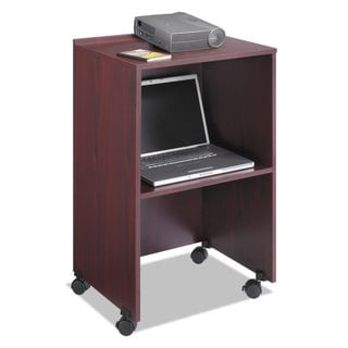 Safco Lectern Base/Media Cart 21-1/4-inch wide x 17-1/2-inch deep x 33-3/4h Mahogany