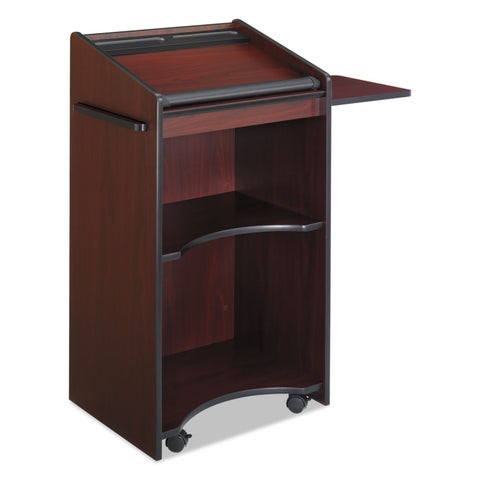 Safco Executive Mobile Lectern 25-1/4-inch wide x 19-3/4-inch deep x 46-inch high Mahogany