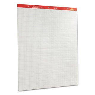 Universal Recycled Easel Pads Quadrille Rule 27 x 34 White 50-Sheet 2/Carton