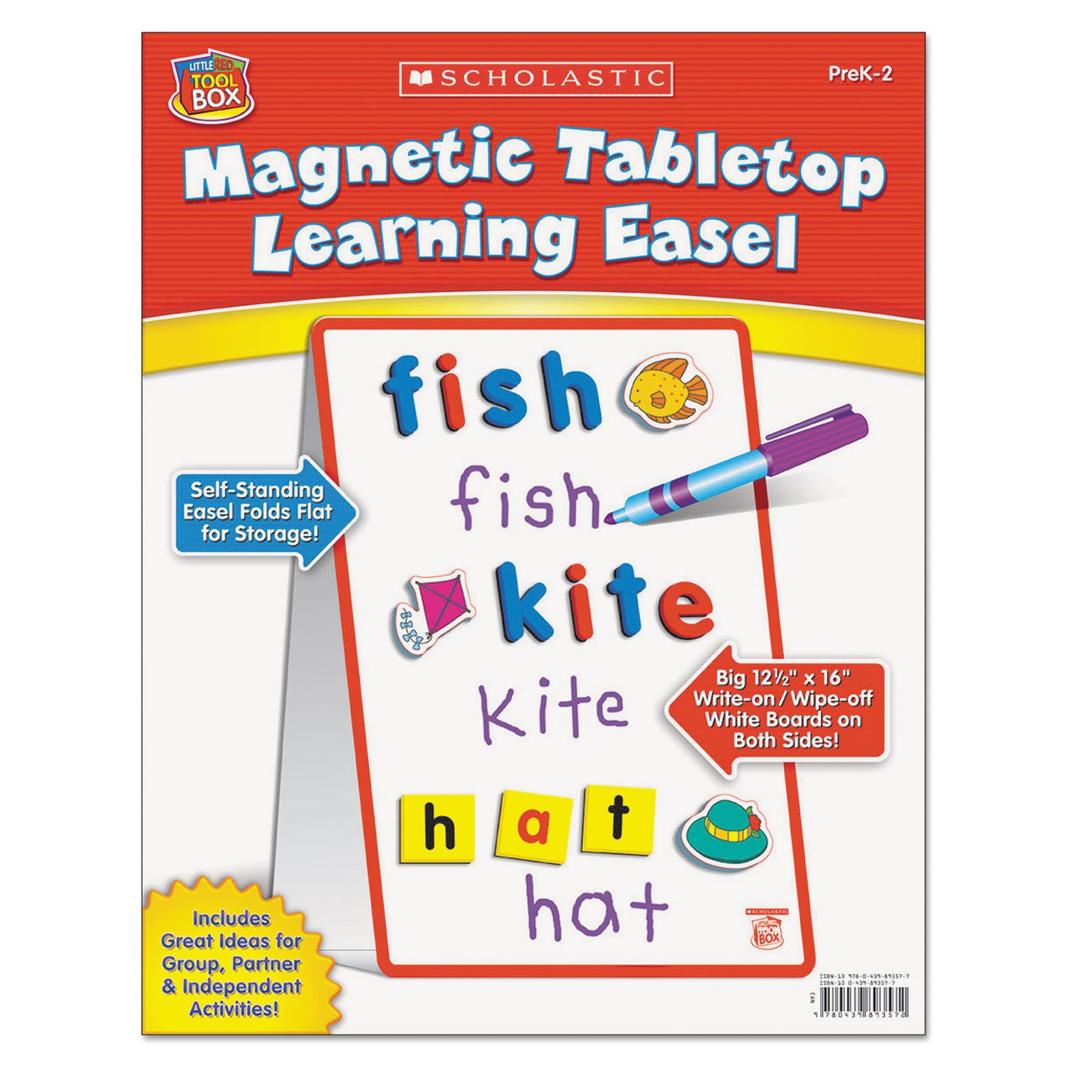 Scholastic Magnetic Tabletop Learning Easel Ages 4-7 (Easel), White