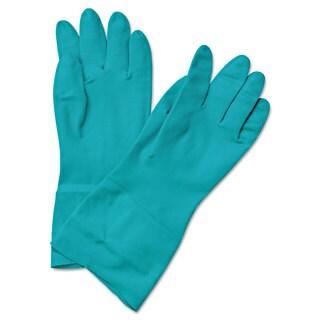 Boardwalk Flock-Lined Nitrile Gloves Medium Green Dozen