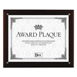 DAX Award Plaque with Easel 8 1/2 x 11 Mahogany Frame