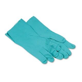 Boardwalk Nitrile Flock-Lined Gloves X-Large Green Dozen