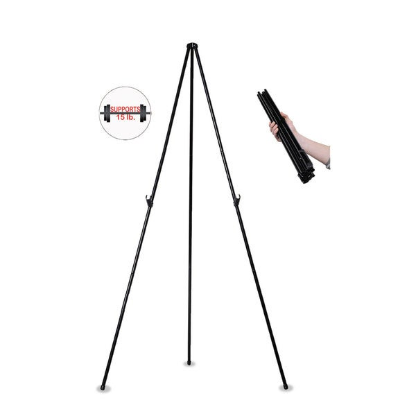 MasterVision Instant Easel 61 1/2 inches Black Steel Heavy-Duty