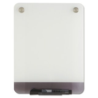 Iceberg Clarity Glass Personal Dry Erase Boards ULettera-White Backing 9 x 12