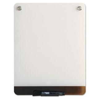 Iceberg Clarity Glass Personal Dry Erase Boards ULettera-White Backing 12 x 16