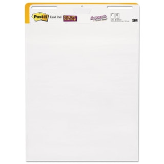 Post-it Easel Pads Self-Stick Wall Easel Unruled Pad 25 x 30 White 30 Sheets 2 Pads/Carton