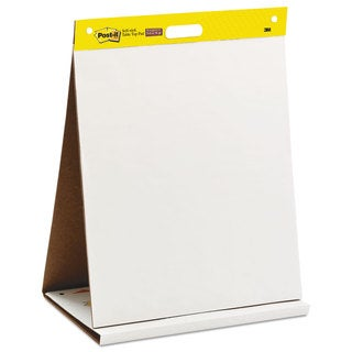 Post-it Easel Pads Self-Stick Tabletop Easel Unruled Pad 20-inch x 23-inch White 20 Sheets
